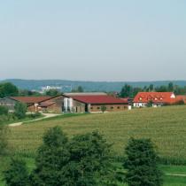 Die Hofanlage mit Milchviehbetrieb
